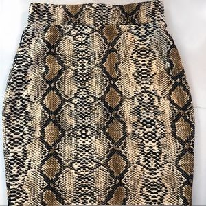 NWT SALTY by Andi Y Snake Print Scuba Skirt